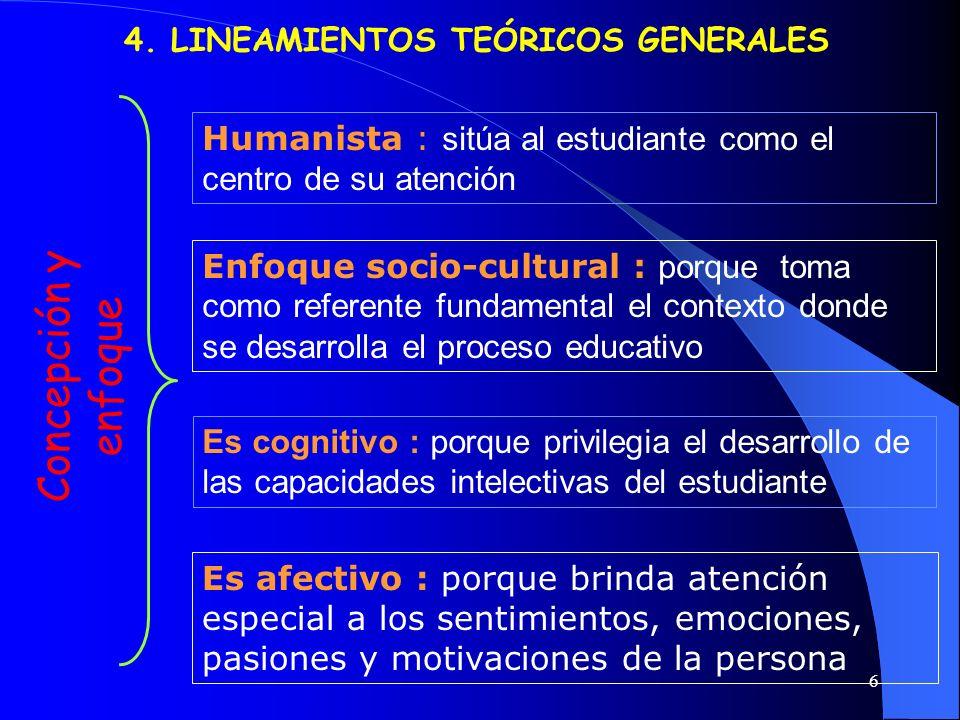 4. LINEAMIENTOS TEÓRICOS GENERALES