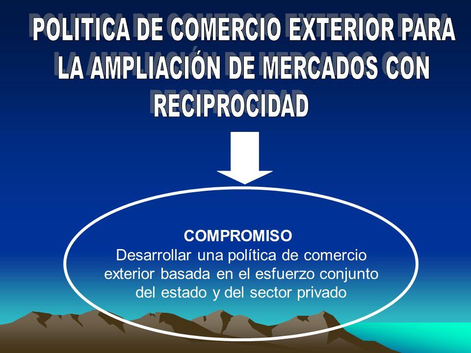 POLITICA DE COMERCIO EXTERIOR PARA LA AMPLIACIÓN DE MERCADOS CON