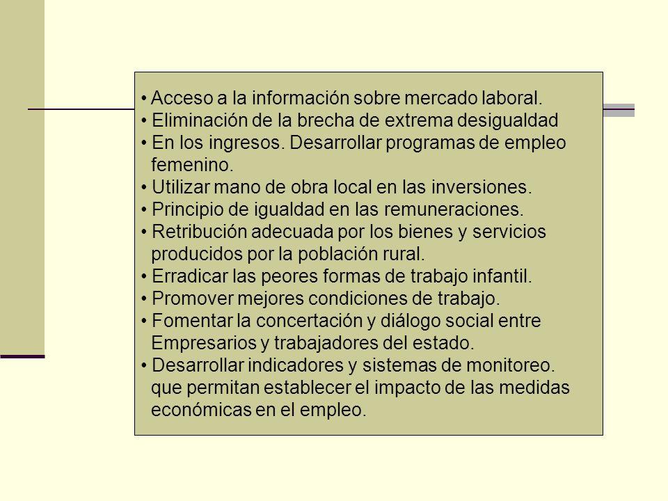 Acceso a la información sobre mercado laboral.