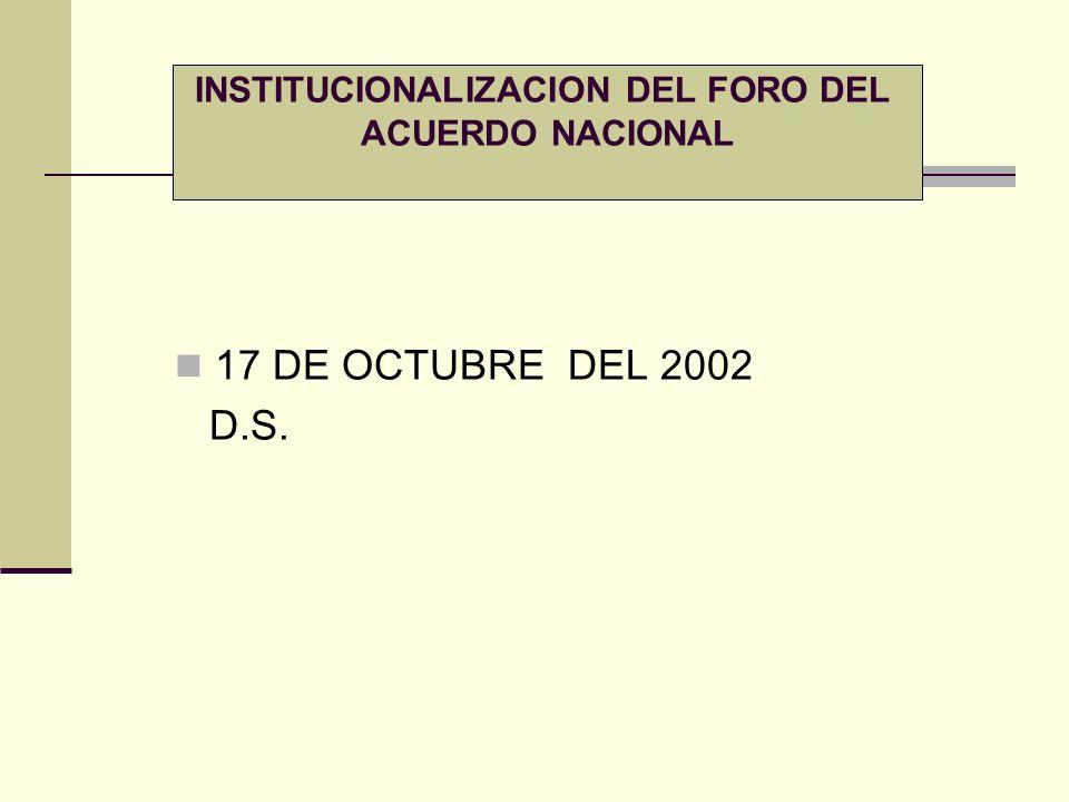 INSTITUCIONALIZACION DEL FORO DEL