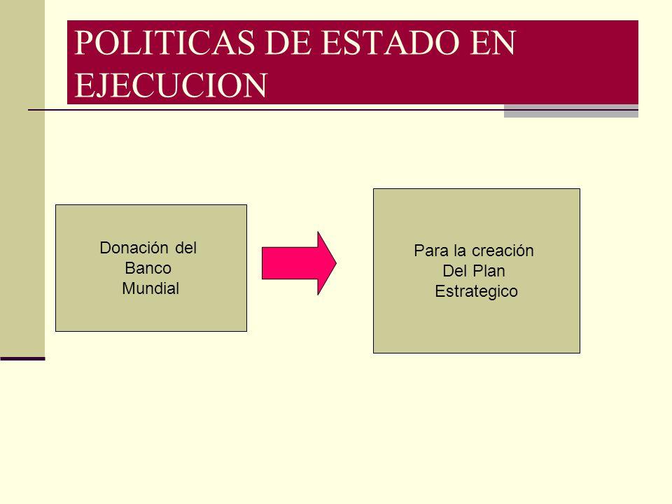 POLITICAS DE ESTADO EN EJECUCION
