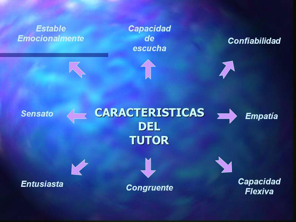 CARACTERISTICAS DEL TUTOR