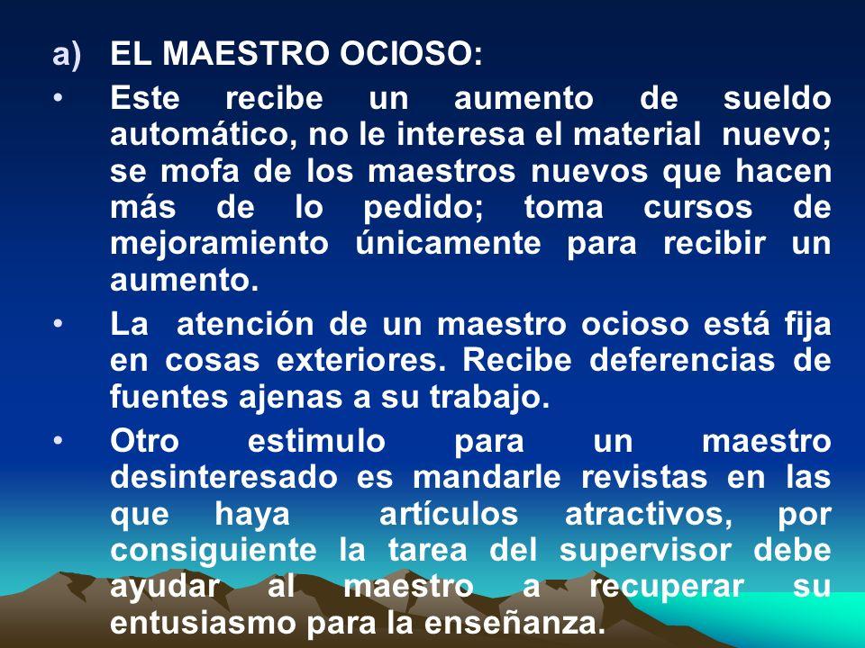 EL MAESTRO OCIOSO: