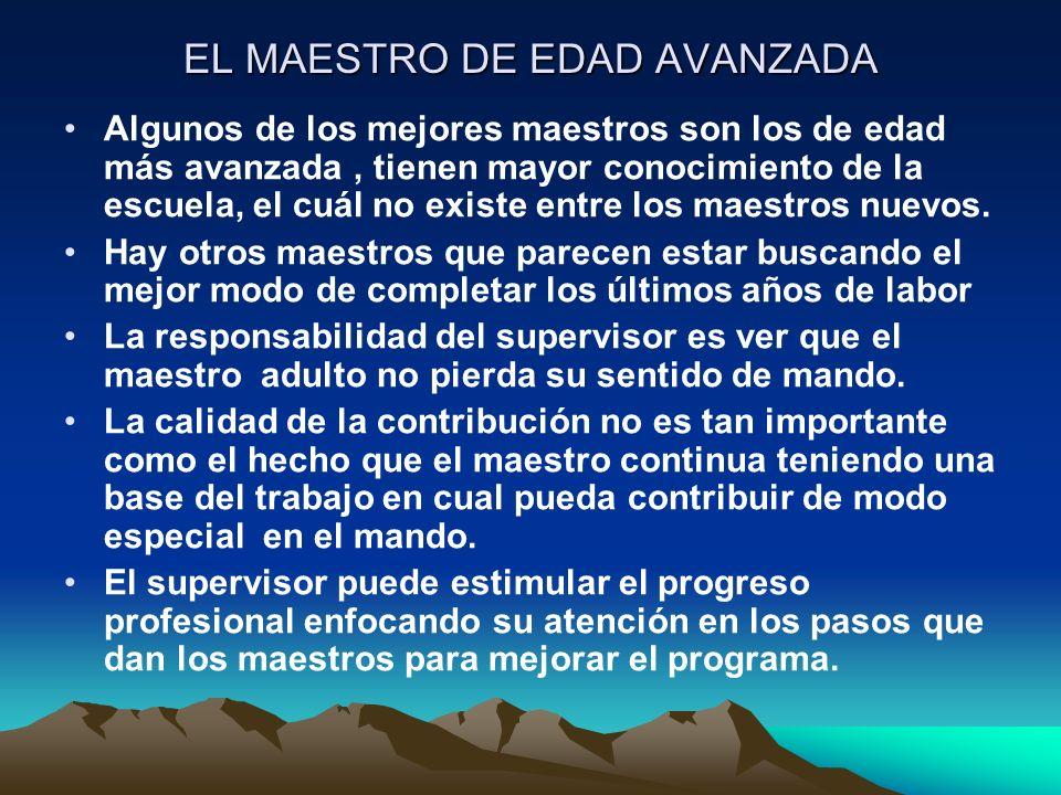 EL MAESTRO DE EDAD AVANZADA