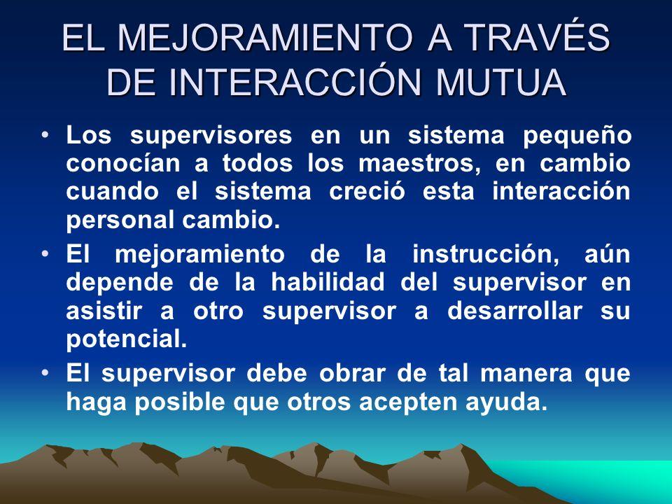EL MEJORAMIENTO A TRAVÉS DE INTERACCIÓN MUTUA