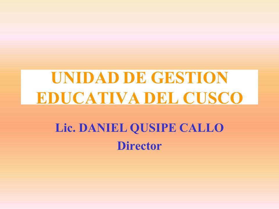 UNIDAD DE GESTION EDUCATIVA DEL CUSCO