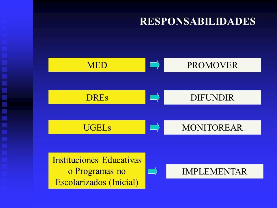 Instituciones Educativas o Programas no Escolarizados (Inicial)