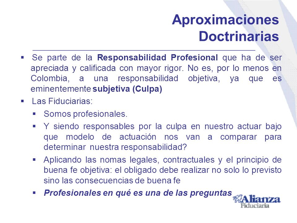 Aproximaciones Doctrinarias