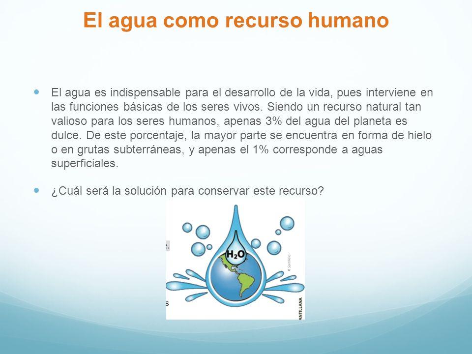 El agua como recurso humano