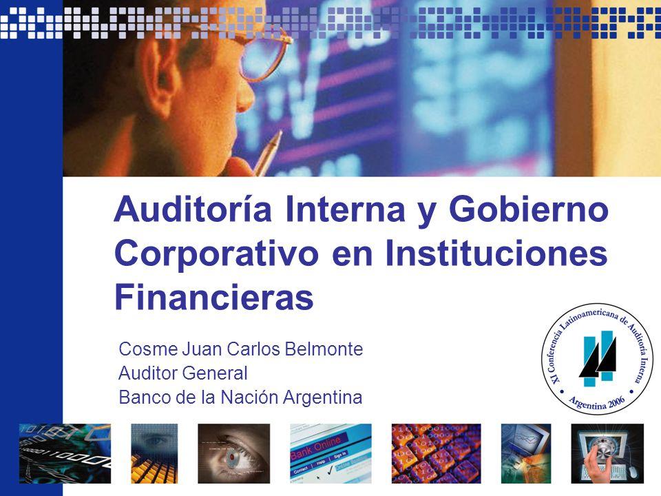 Auditoría Interna y Gobierno Corporativo en Instituciones Financieras