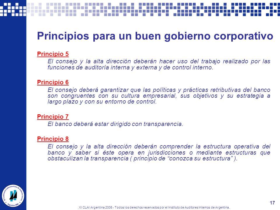 Principios para un buen gobierno corporativo