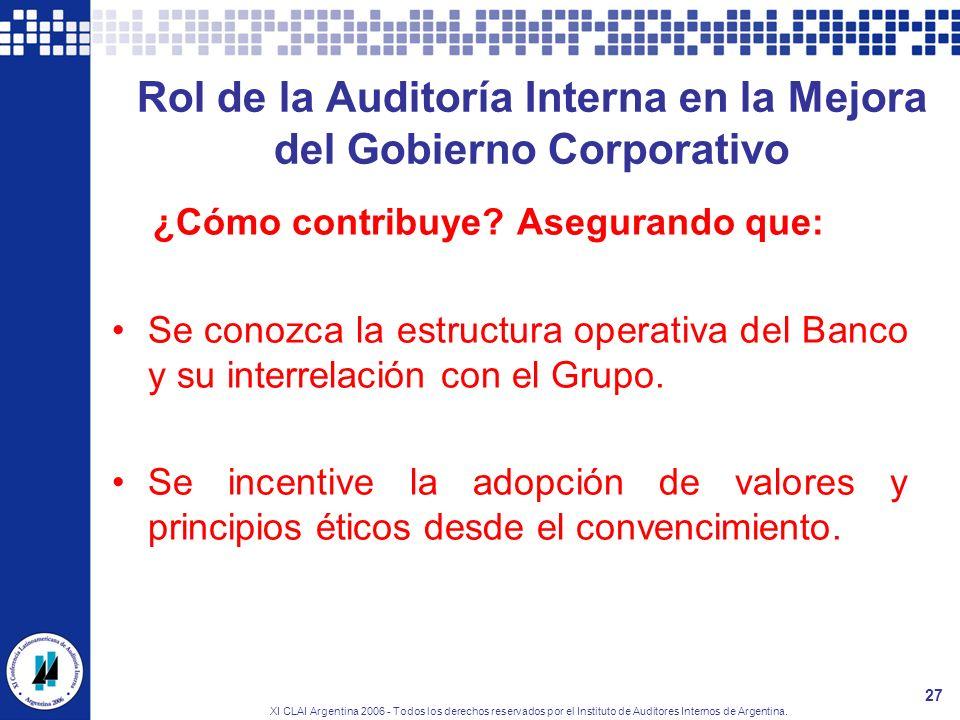 Rol de la Auditoría Interna en la Mejora del Gobierno Corporativo