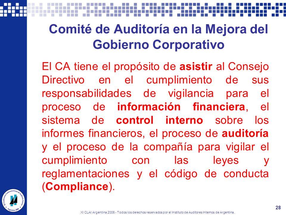 Comité de Auditoría en la Mejora del Gobierno Corporativo