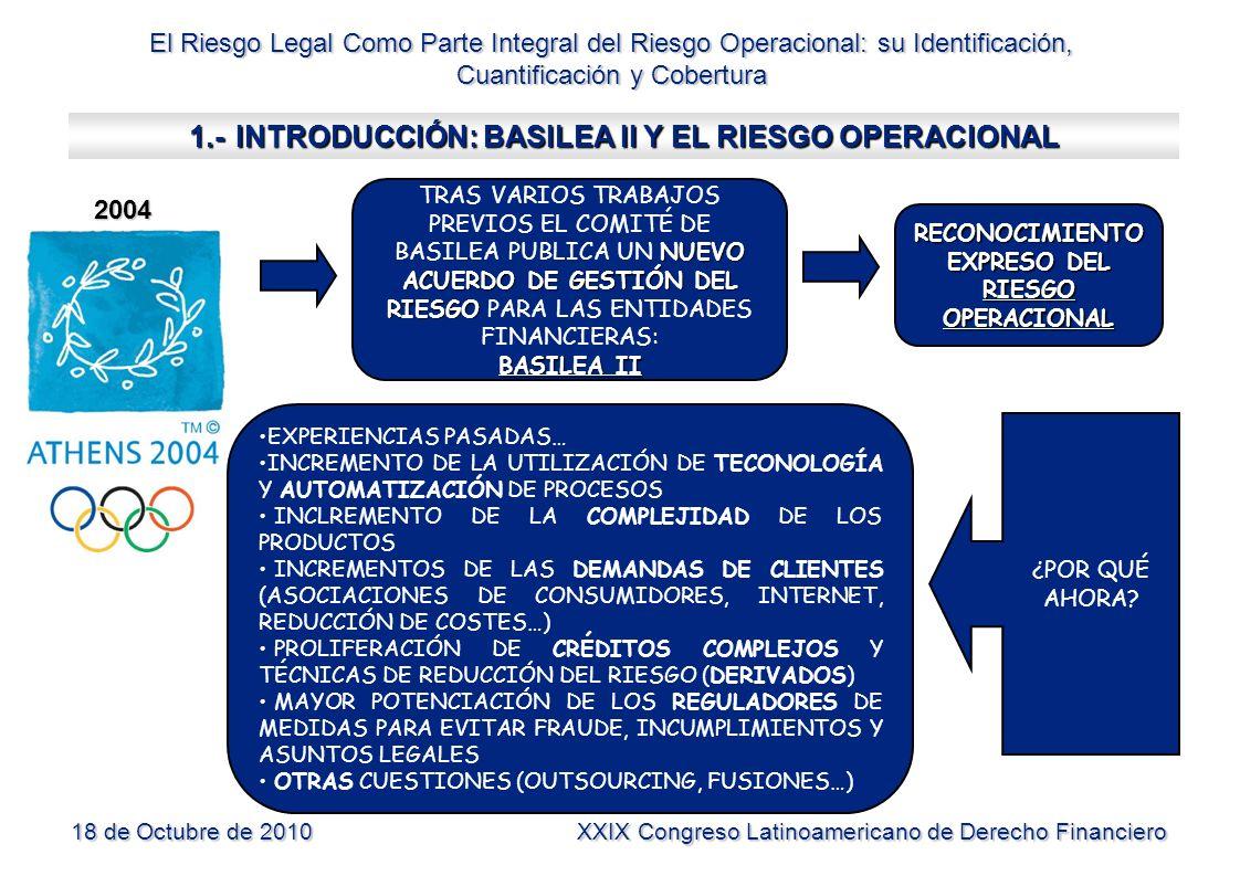 1.- INTRODUCCIÓN: BASILEA II Y EL RIESGO OPERACIONAL