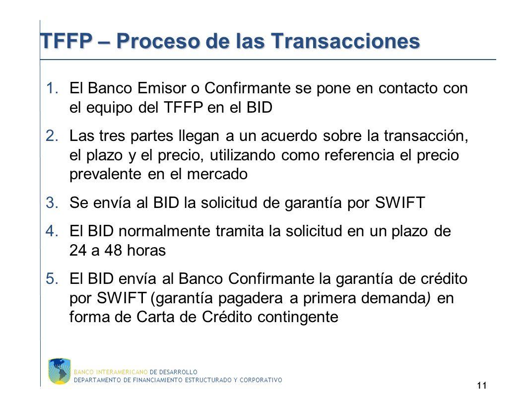 TFFP – Proceso de las Transacciones