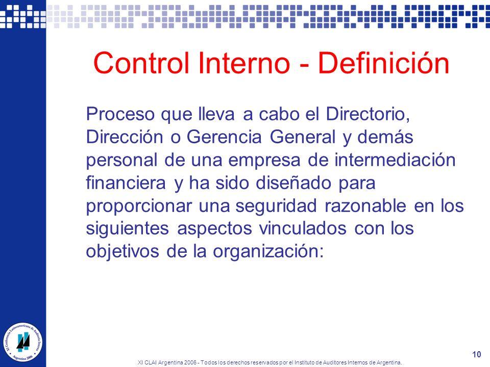 Control Interno - Definición