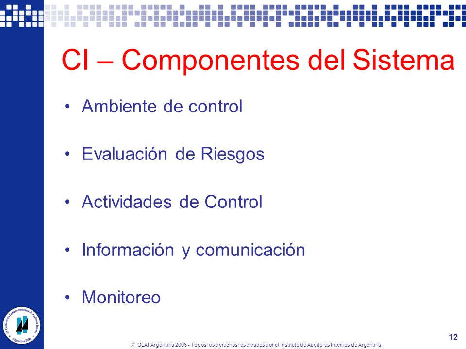 CI – Componentes del Sistema