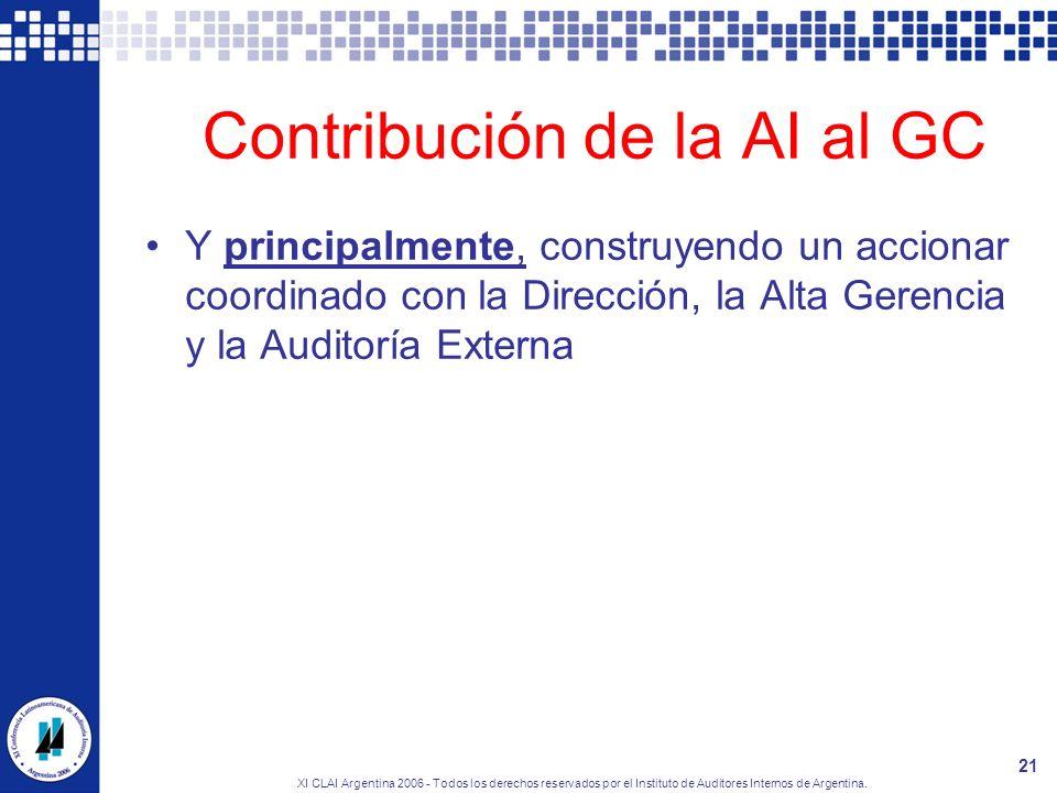 Contribución de la AI al GC