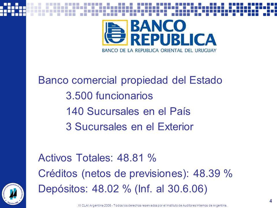 El BROU Banco comercial propiedad del Estado 3.500 funcionarios