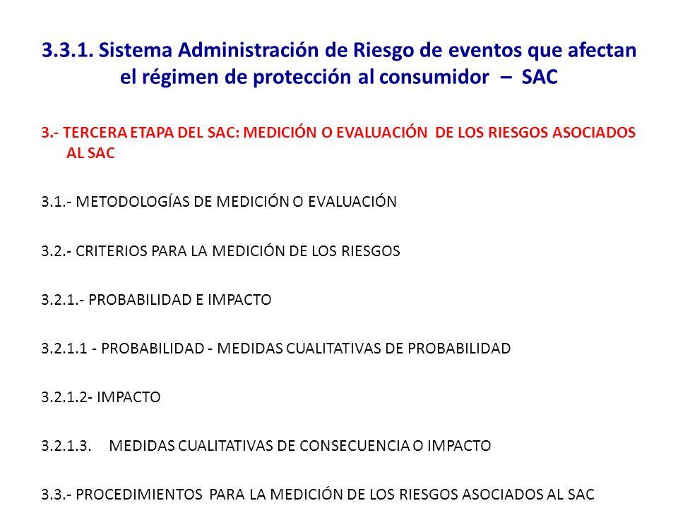 3.3.1. Sistema Administración de Riesgo de eventos que afectan el régimen de protección al consumidor – SAC