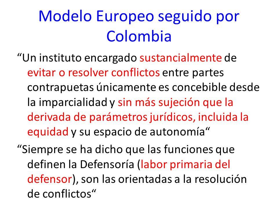 Modelo Europeo seguido por Colombia