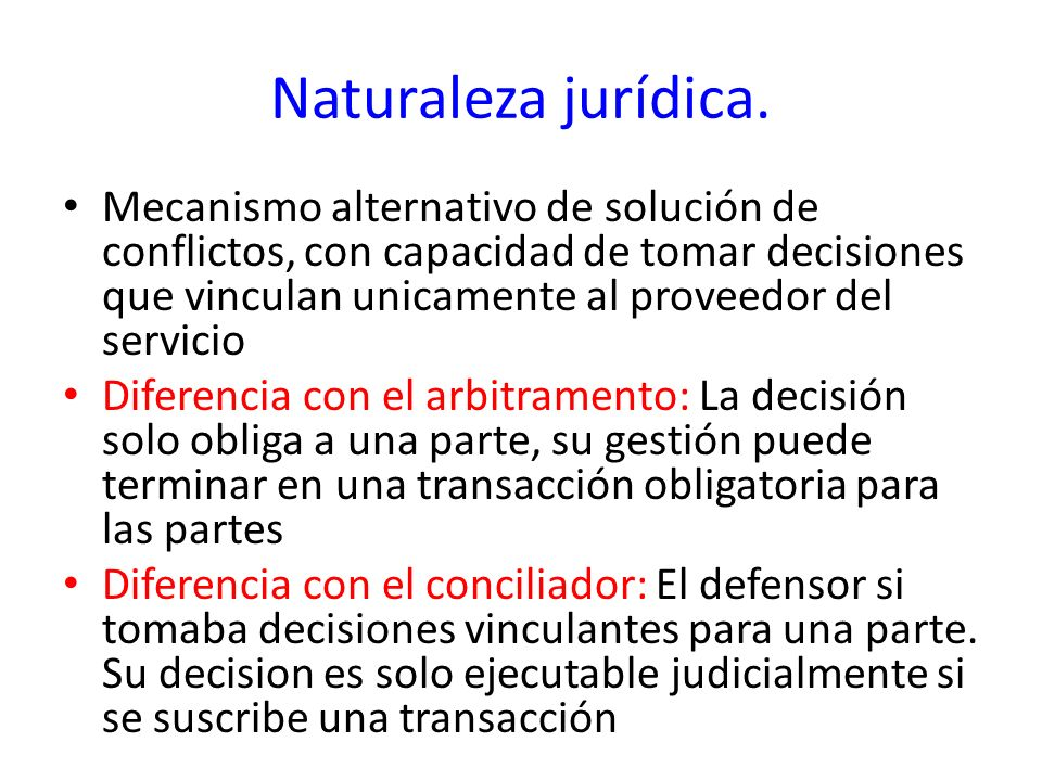 Naturaleza jurídica.