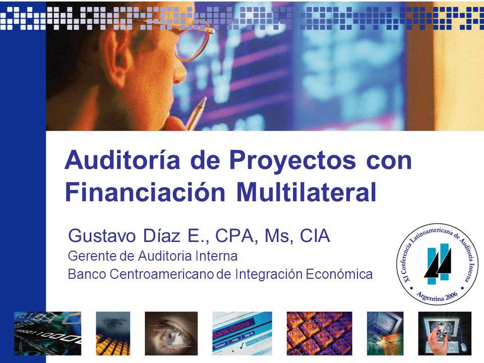 Auditoría de Proyectos con Financiación Multilateral