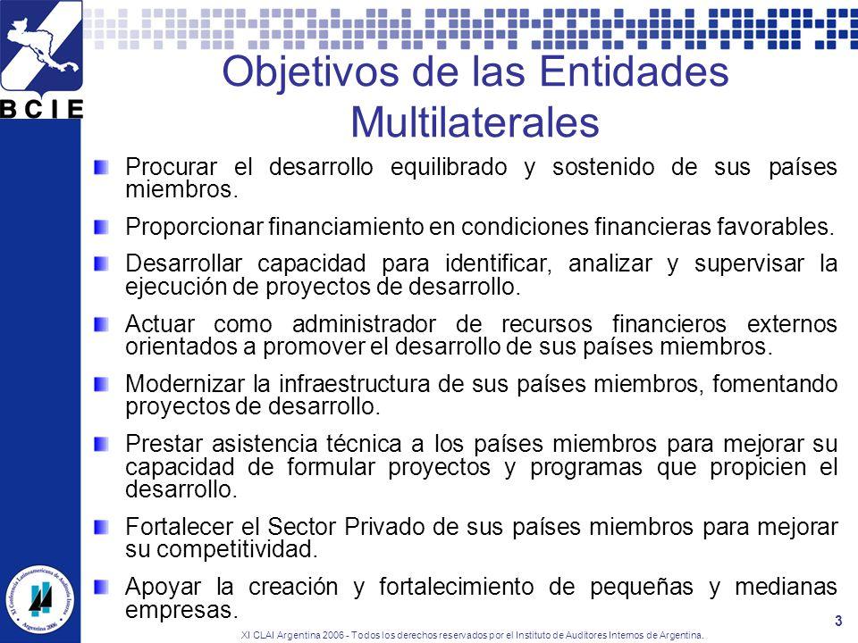 Objetivos de las Entidades Multilaterales