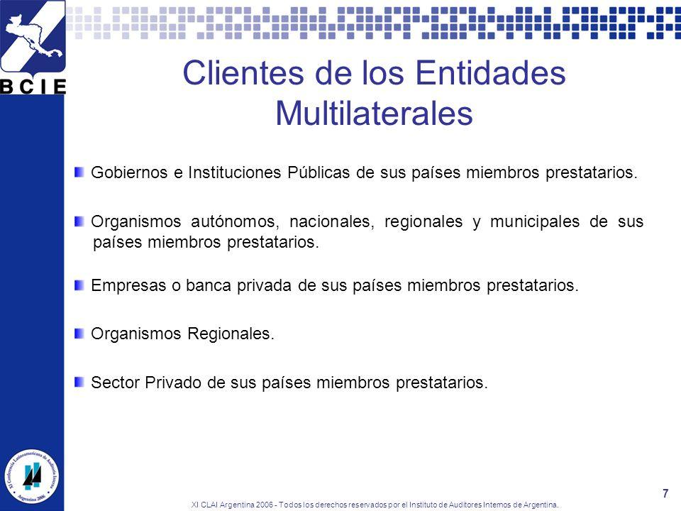 Clientes de los Entidades Multilaterales