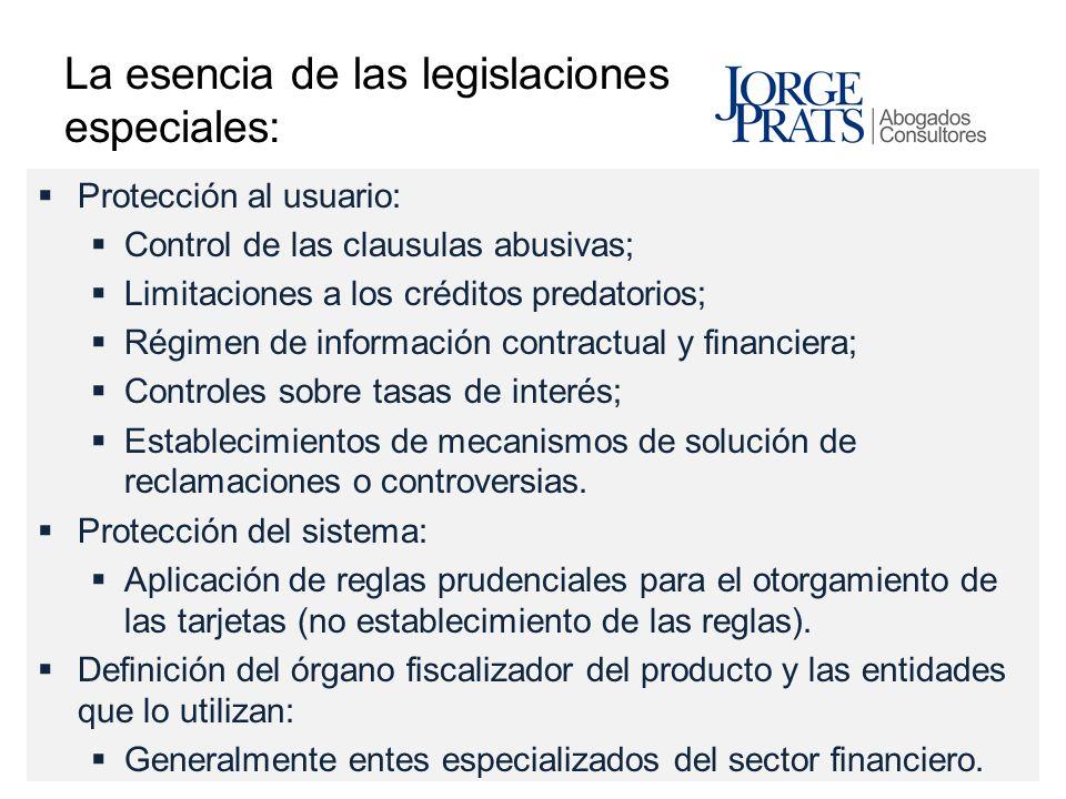 La esencia de las legislaciones especiales: