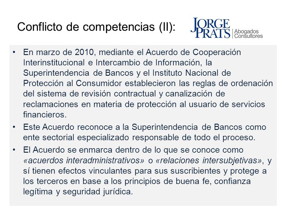 Conflicto de competencias (II):