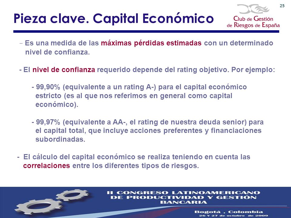 Pieza clave. Capital Económico