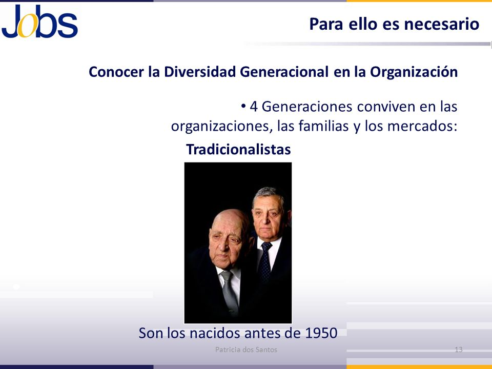 Para ello es necesarioConocer la Diversidad Generacional en la Organización.