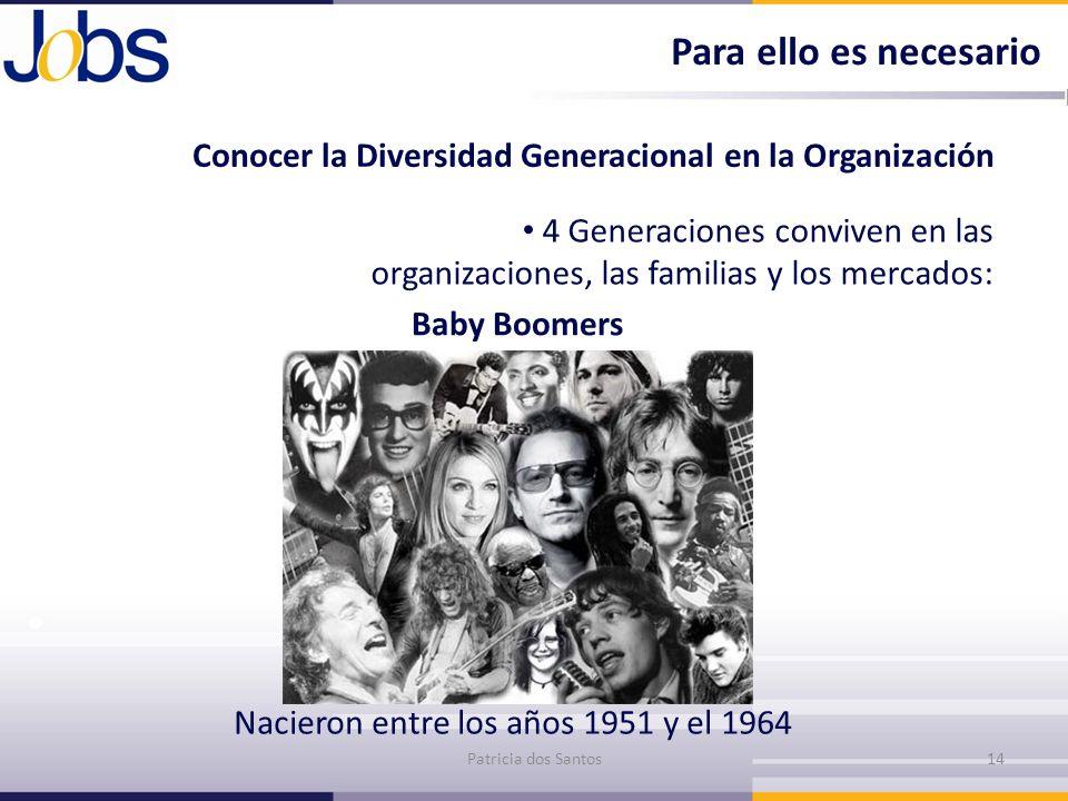 Para ello es necesario Conocer la Diversidad Generacional en la Organización.