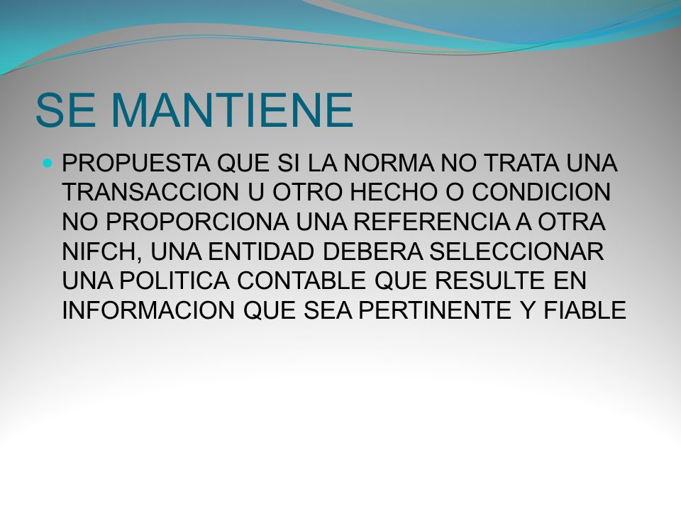 SE MANTIENE