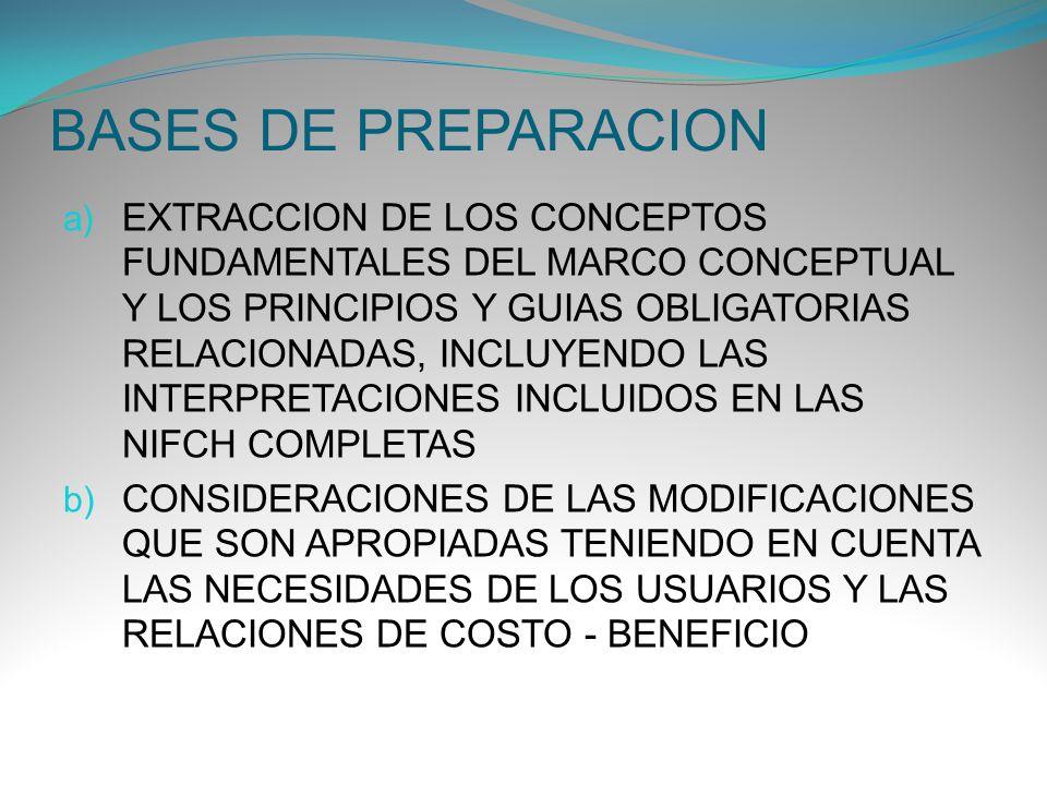 BASES DE PREPARACION