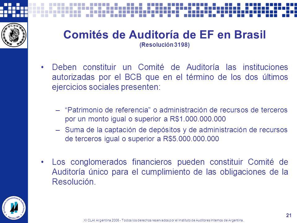 Comités de Auditoría de EF en Brasil (Resolución 3198)