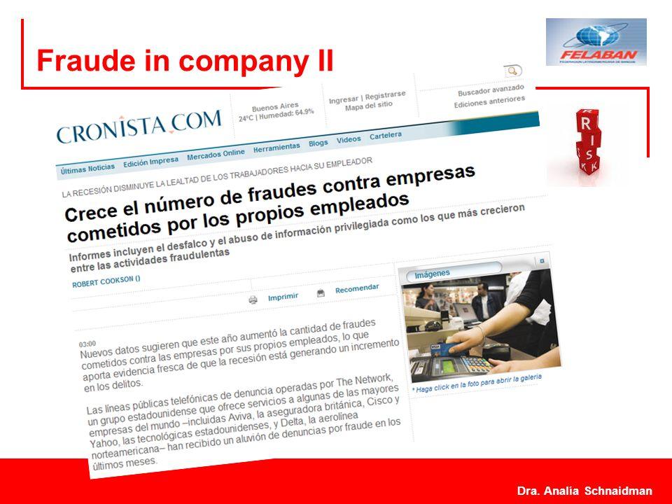 Fraude in company II Dra. Analía Schnaidman