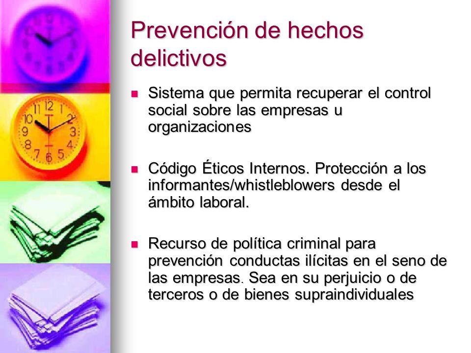 Prevención de hechos delictivos