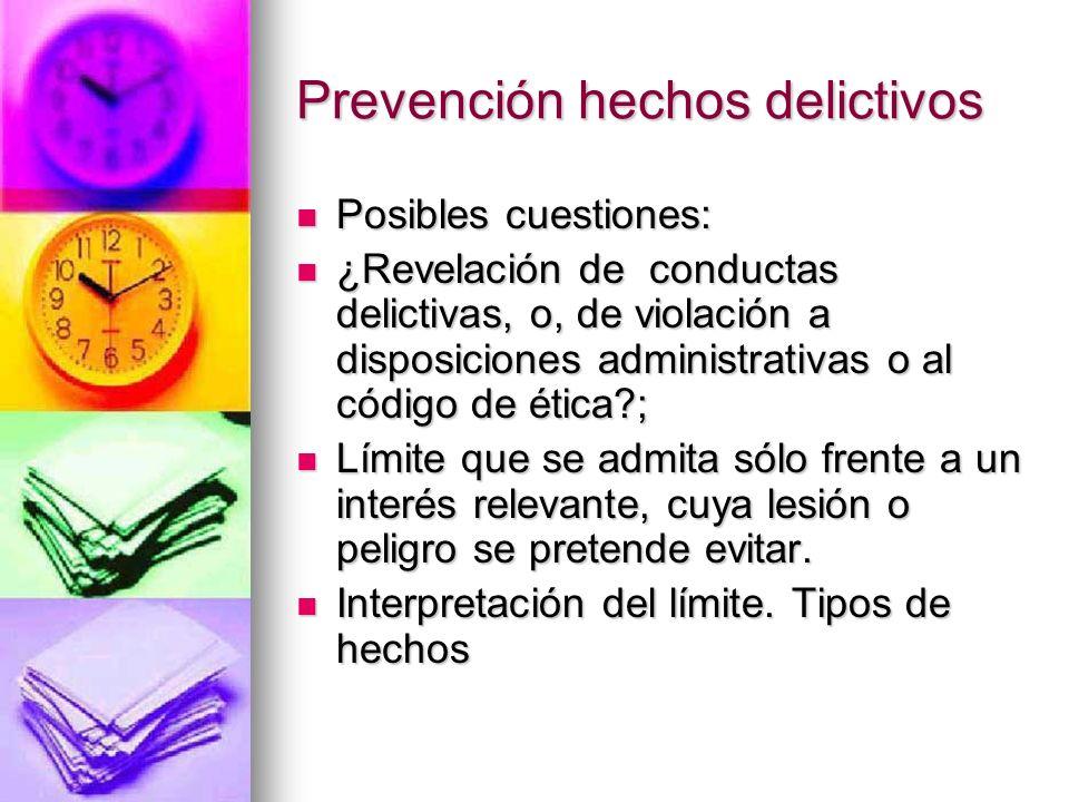 Prevención hechos delictivos