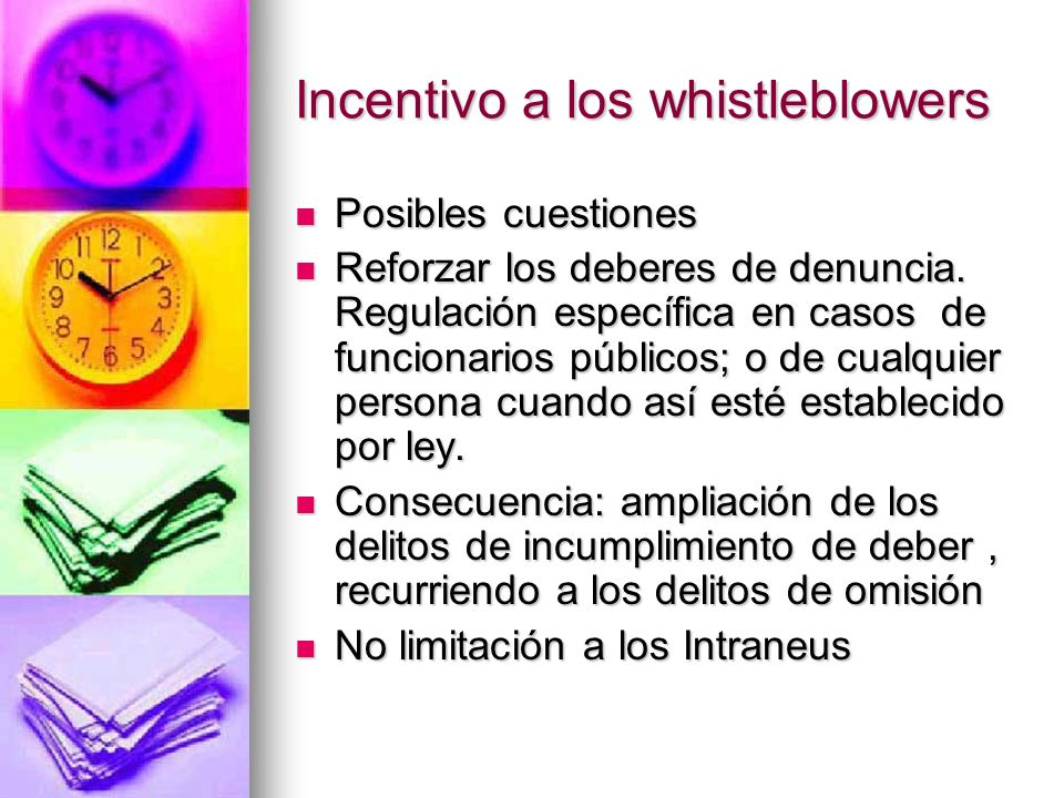 Incentivo a los whistleblowers