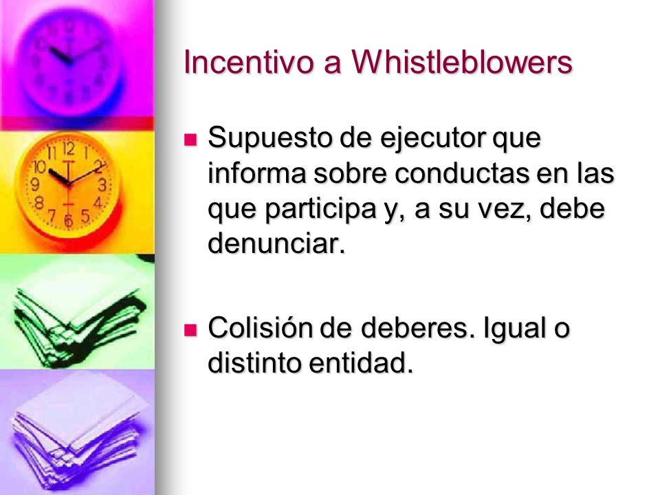 Incentivo a Whistleblowers