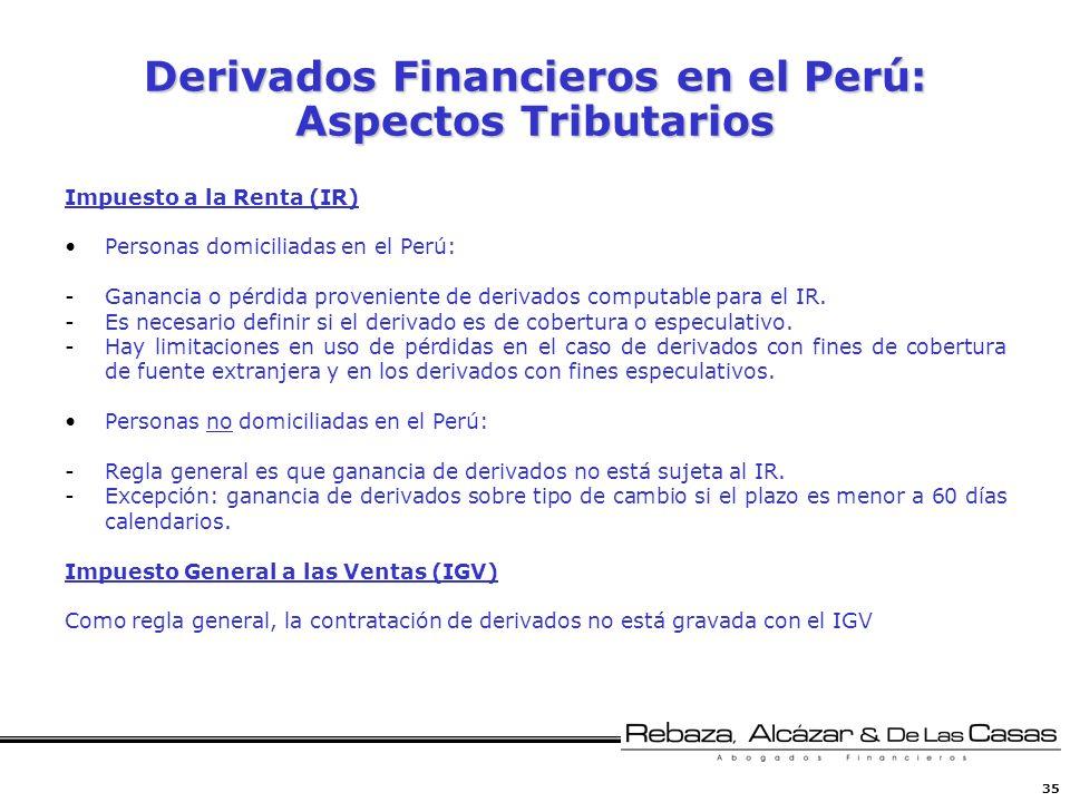 Derivados Financieros en el Perú: Aspectos Tributarios