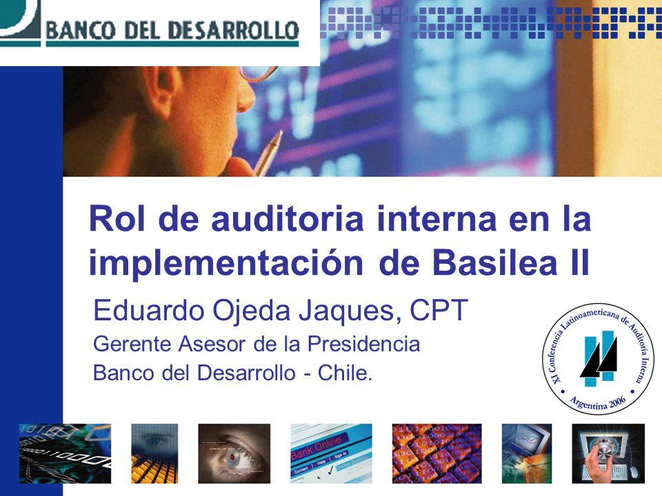 Rol de auditoria interna en la implementación de Basilea II