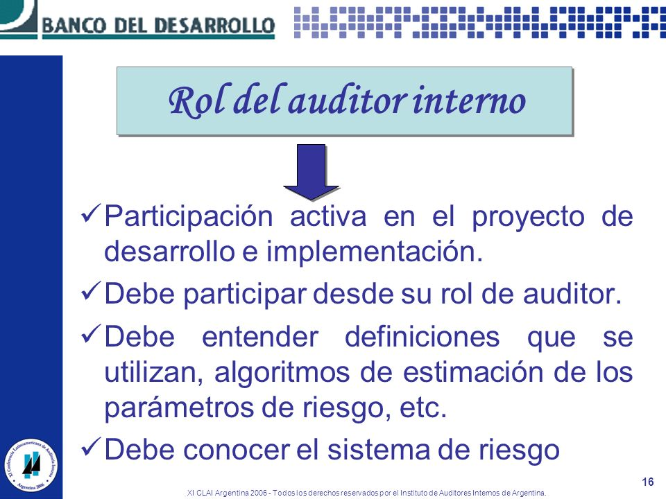 Rol del auditor interno