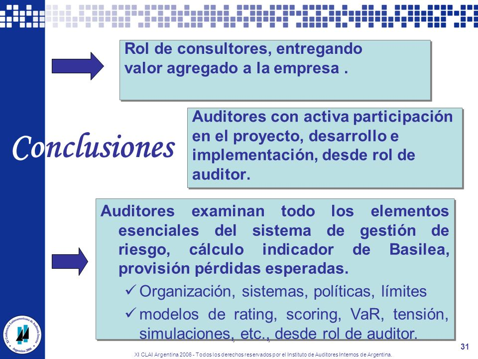 Conclusiones Rol de consultores, entregando