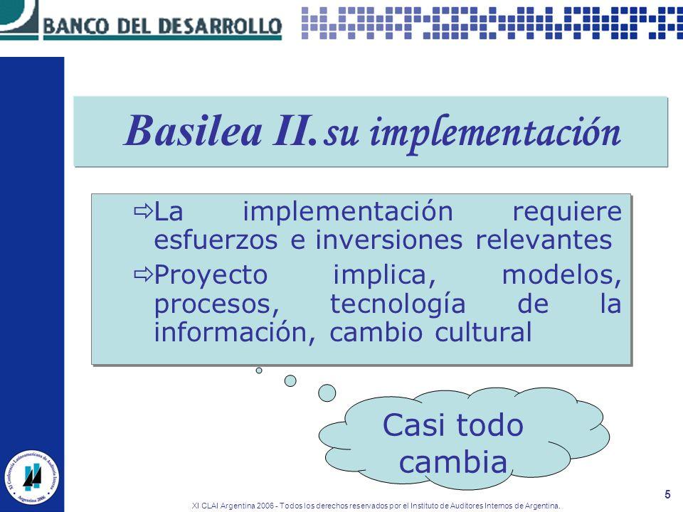 Basilea II.su implementación