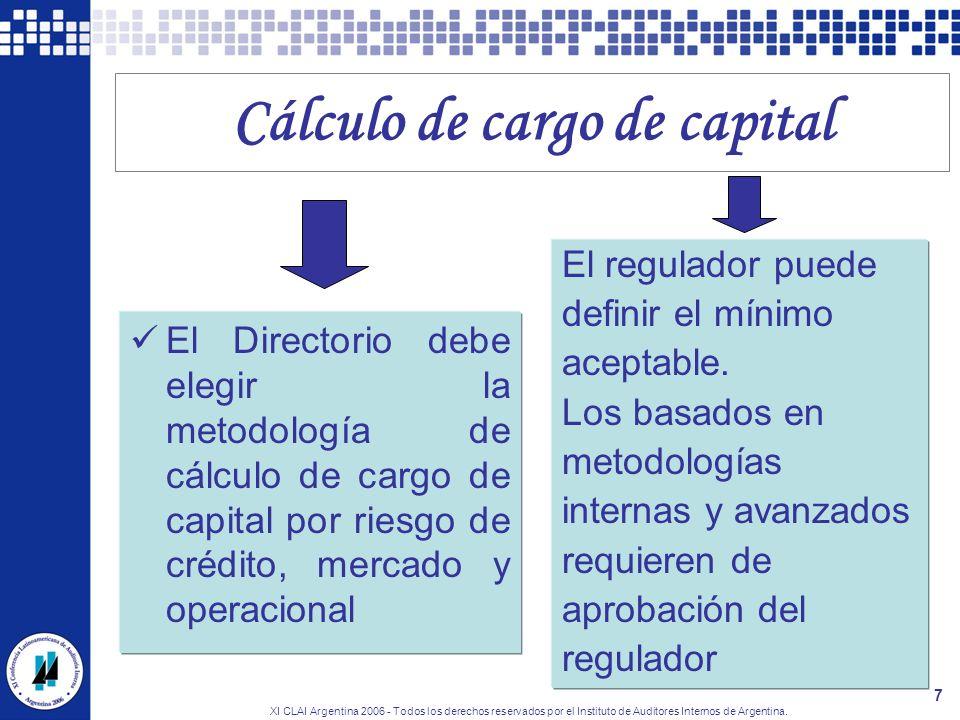 Cálculo de cargo de capital