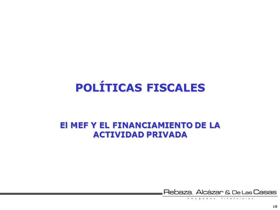 El MEF Y EL FINANCIAMIENTO DE LA ACTIVIDAD PRIVADA