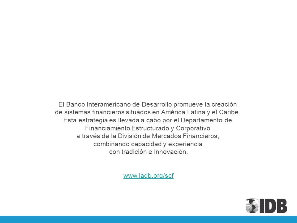 El Banco Interamericano de Desarrollo promueve la creación